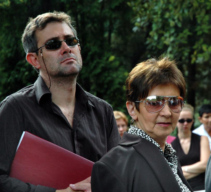 Halina Kunicka z synem /- /MWMedia
