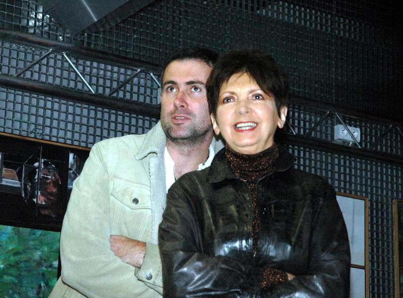 Halina Kunicka z synem /Tricolors /East News