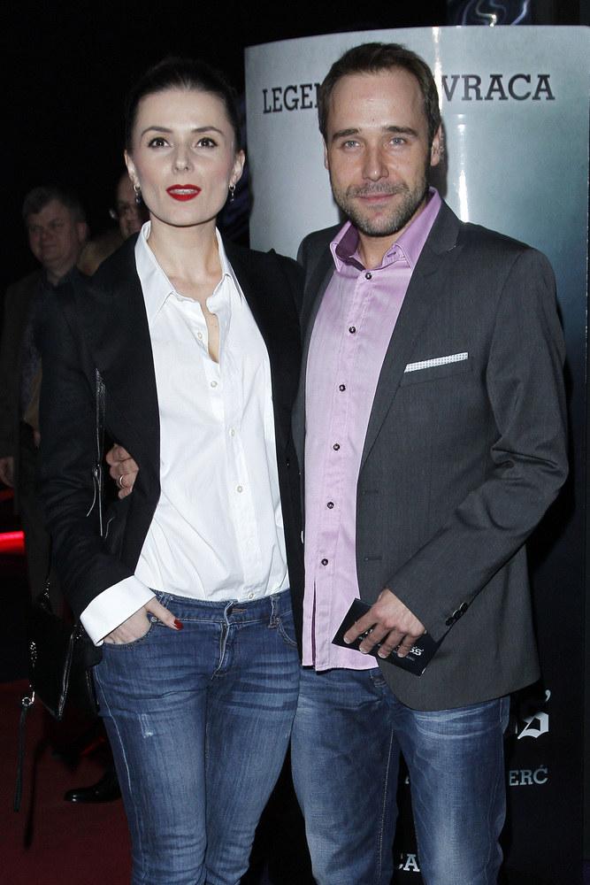 Halina Mlynkova i Łukasz Nowicki rozstali się w 2012 roku /Engelbrecht /AKPA