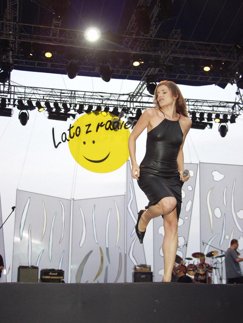 Halina Mlynkova podczas występu z Brathankami, 2002 rok /Niemiec /AKPA