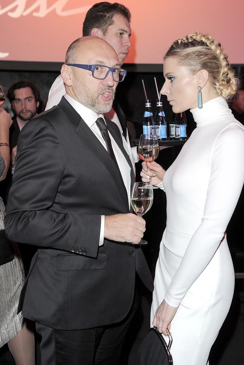 Halina Mlynkova z mężem Leszkiem Wronką /Baranowski /AKPA