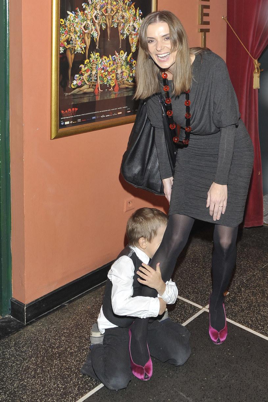 Halina Mlynkova z synem, 2009 rok /Niemiec /AKPA