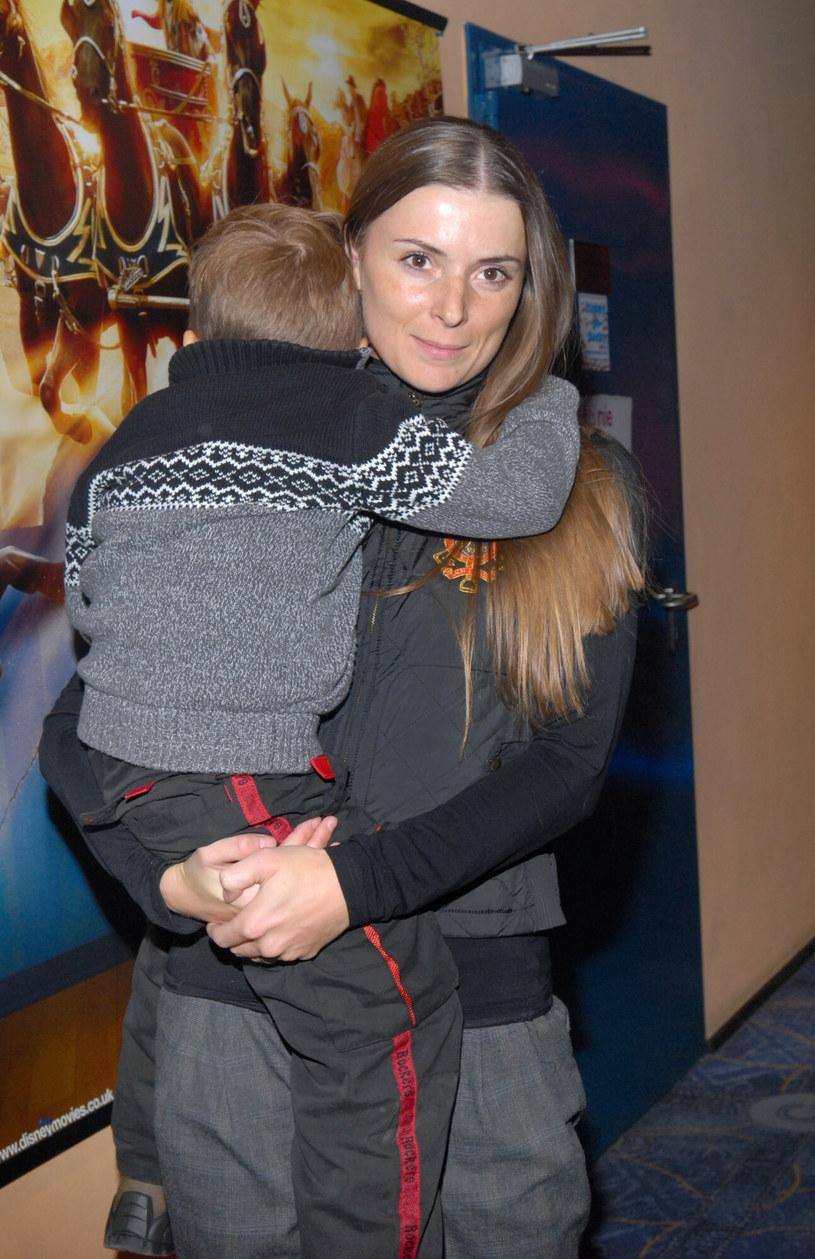 Halina Mlynkova z synem Piotrem /VIPHOTO /East News