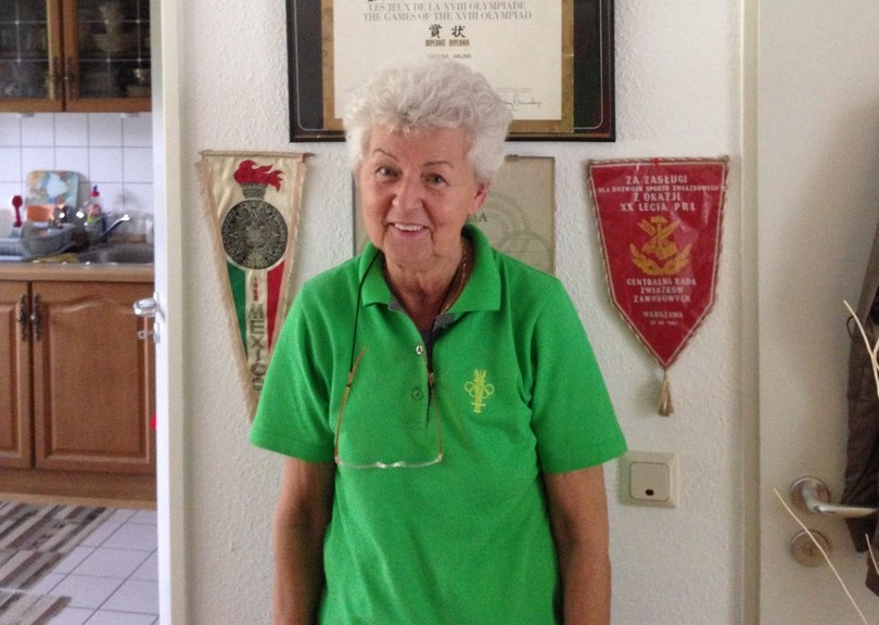 Halina Richter-Górecka-Herrmann. mistrzyni olimpijska w sztafecie 4x100 m z 1964 roku /Wojciech Krzystanek /INTERIA.PL