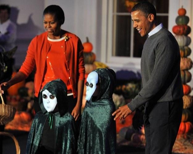 Halloween w Białym Domu /AFP