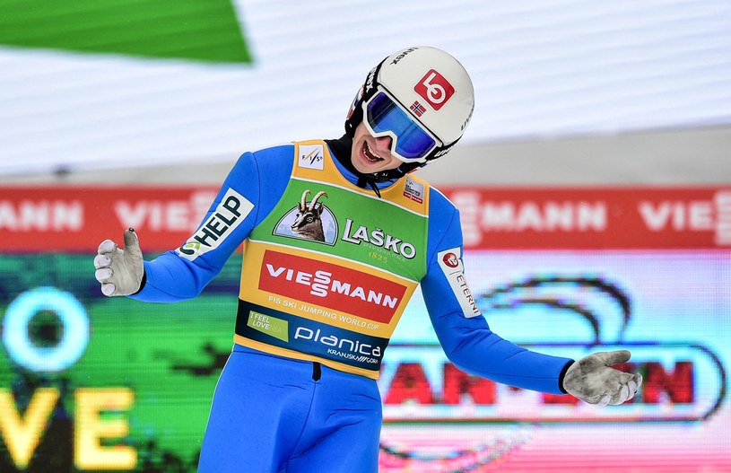 Halvor Egner Granerud wygrał konkurs LGP w Rosji. /Jure MAKOVEC /AFP