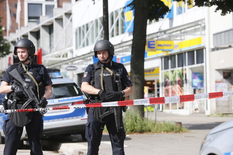 Hamburg: Policja na miejscu zdarzenia /AFP