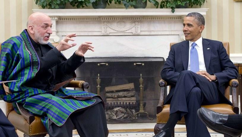 Hamid Karzaj i Barack Obama /AFP
