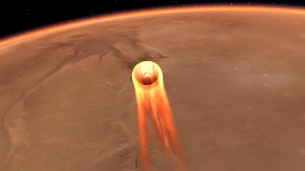 Hamowanie w atmosferze /NASA/JPL-Caltech /Materiały prasowe
