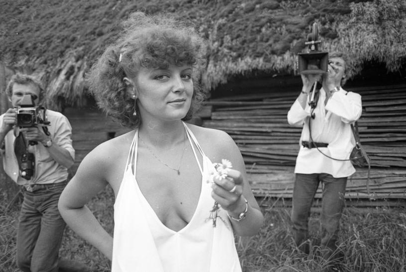 Hanna Banaszak na festiwalu w Opolu, 1979 r. /Andrzej Wiernicki /Agencja FORUM