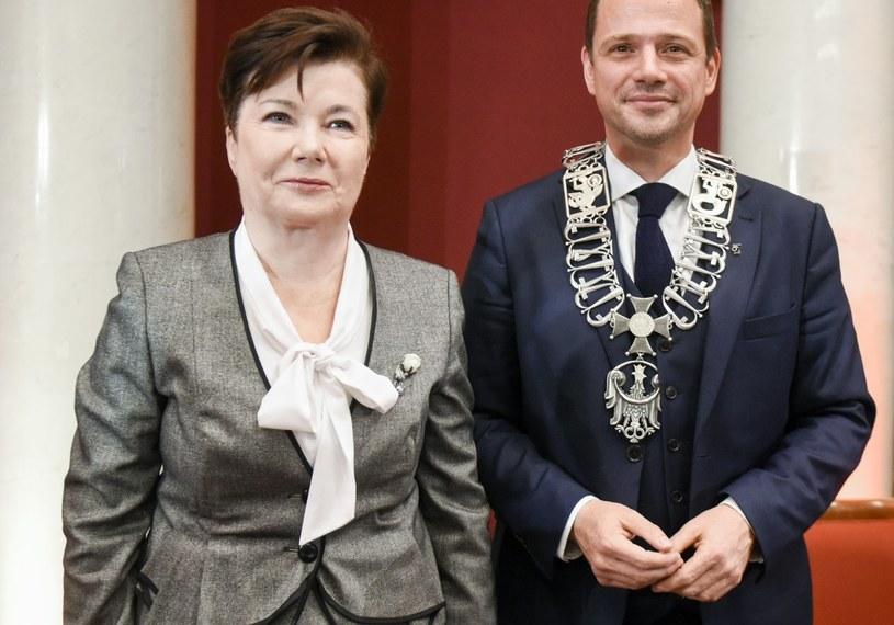 Hanna Gronkiewicz-Waltz i Rafał Trzaskowski / Jacek Domiński /Reporter