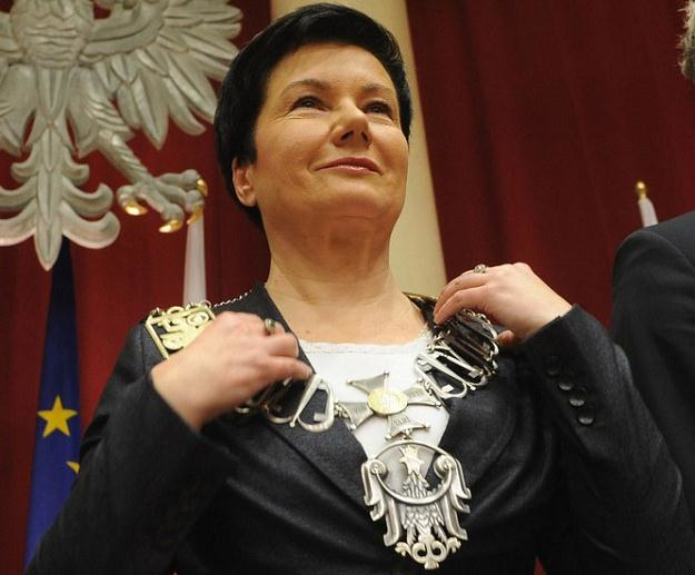 Hanna Gronkiewicz-Waltz, prezydent Warszawy, podczas zaprzysiężenia w grudniu 2010 r. /Reporter