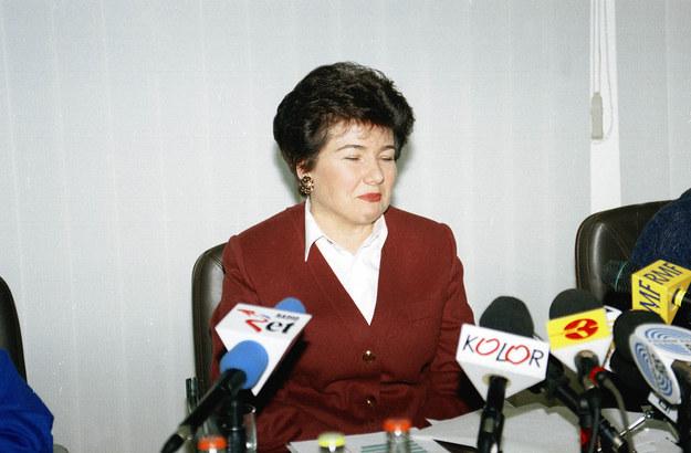 Hanna Gronkiewicz-Waltz za czasów kierowania NBP (zdj. z 1995 r.) / Adam Urbanek /PAP