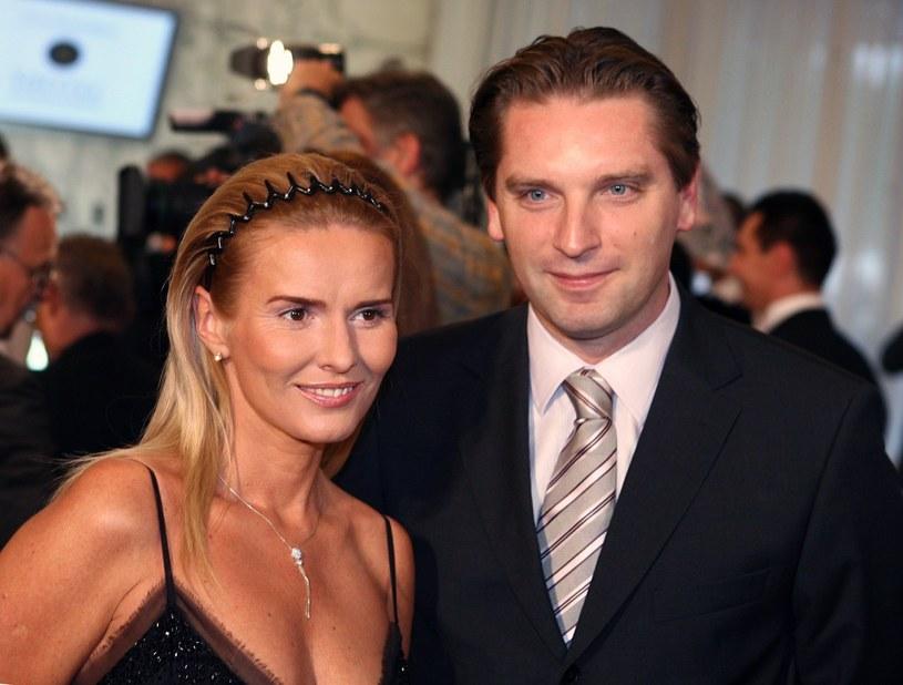 Hanna i Tomasz Lis w 2006 roku /Wojciech Olszanka /East News