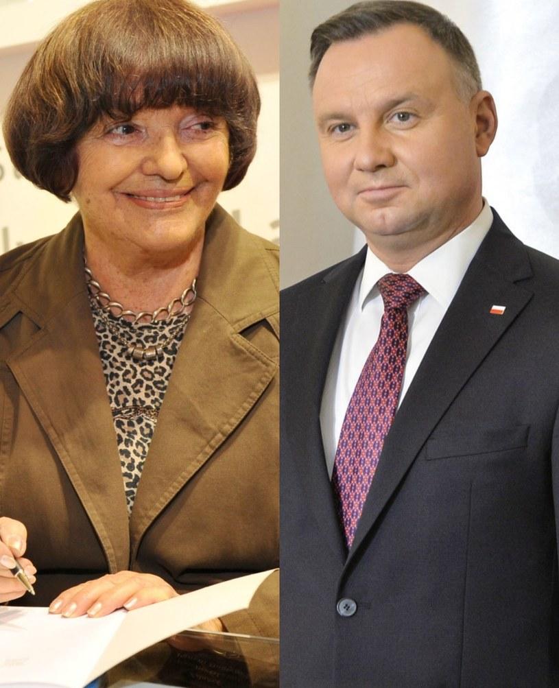 Hanna Krall i Andrzej Duda /Niemiec /AKPA