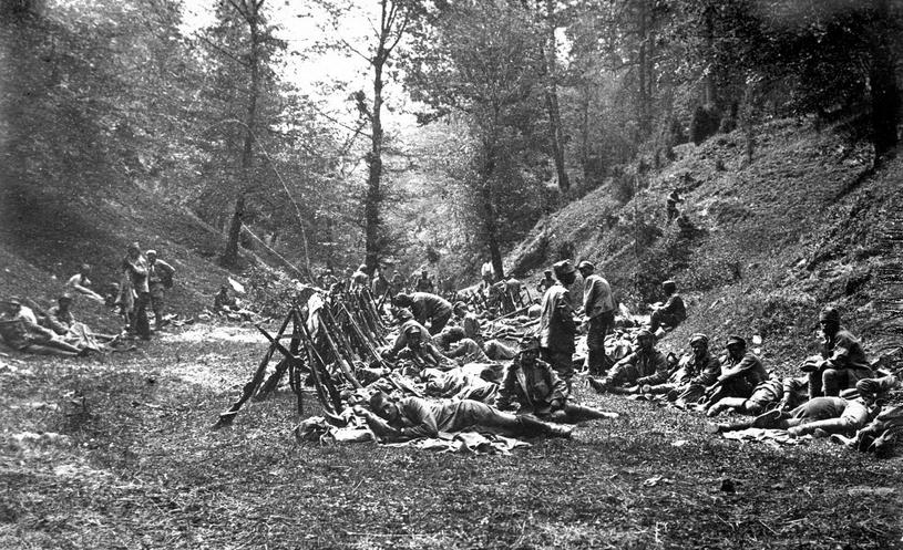 Hanna Kudelska tworzyła od zera stworzyła legionową intendenturę. Na zdjęciu żołnierze Pierwszej Kompani Kadrowej w sierpniu 1914 roku (domena publiczna) /Ciekawostki Historyczne