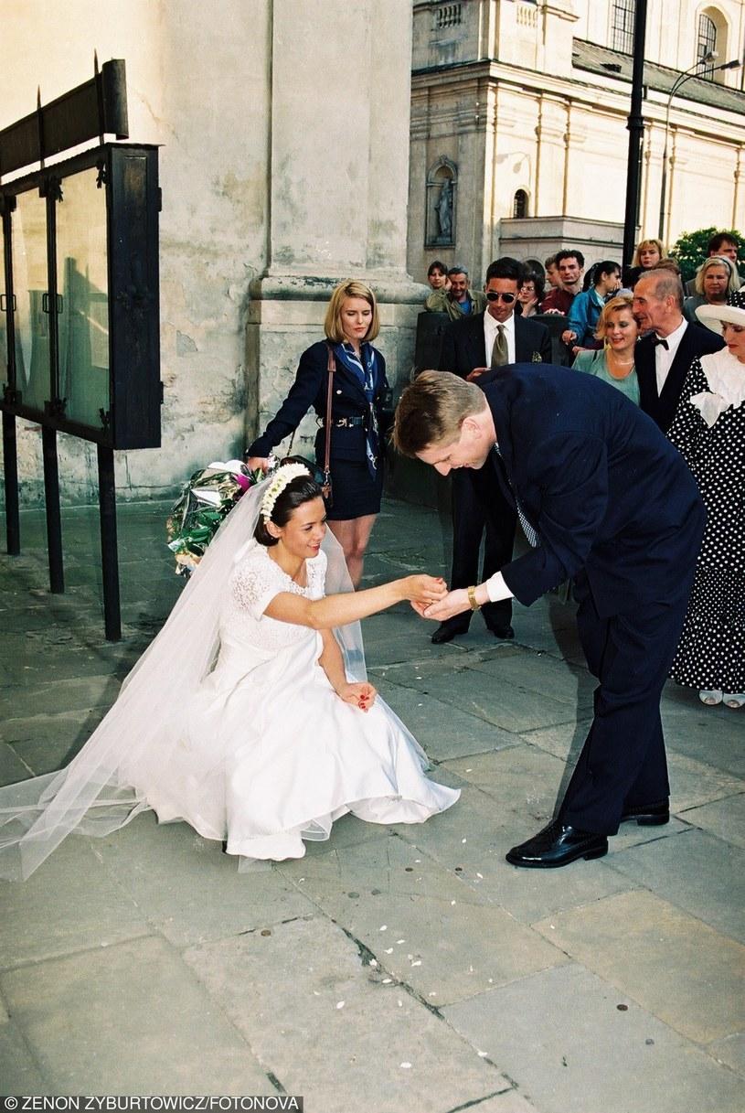 Hanna Lis była nawet obecna na ślubie Kingi i Tomasza. Nikt się nie spodziewał, że niebawem ona zostanie żoną dziennikarza /Zenon Zyburtowicz /East News