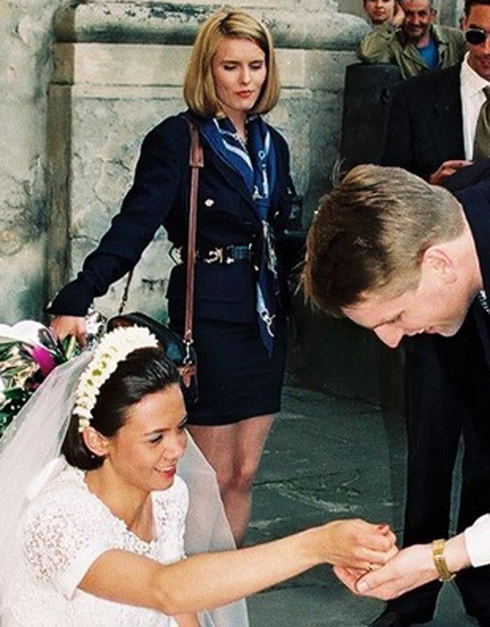 Hanna Lis na ślubie /Zenon Zyburtowicz /East News