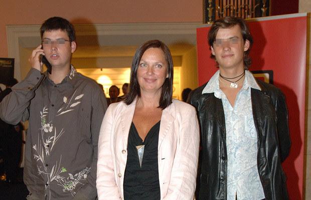 Hanna Mikuć z synami /Nawrocki /Agencja FORUM