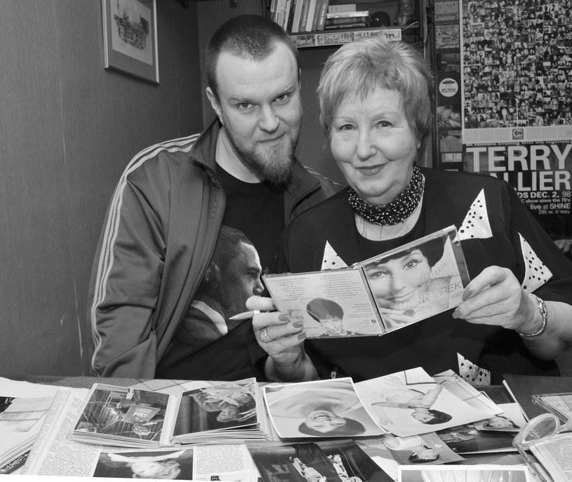 Hanna Rek z synem Maciejem (Maceo Wyro), 2009 r. /Marek Szymański/Reporter /Reporter