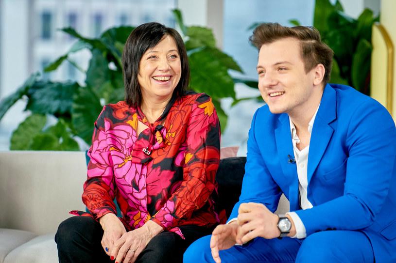 Hanna Śleszyńska i Jakub Gąsowski. Syn poszedł w ślady rodziców, jest aktorem /TOMASZ URBANEK/Dzien Dobry TVN/East News /East News