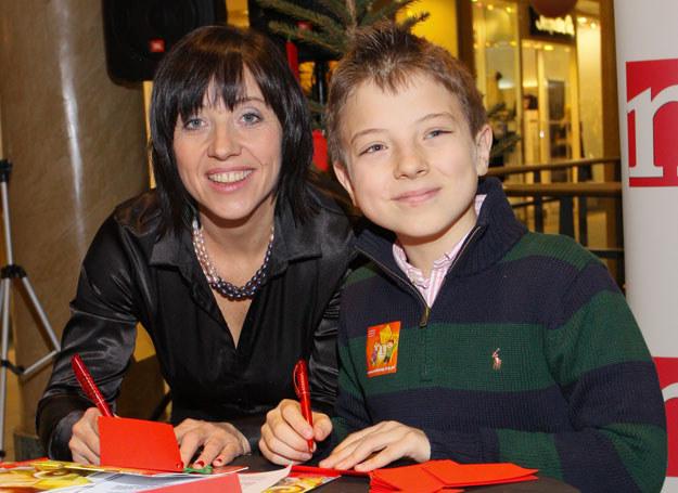 Hanna Śleszyńska z synem  /fot. P. Przybyszewski /MWMedia