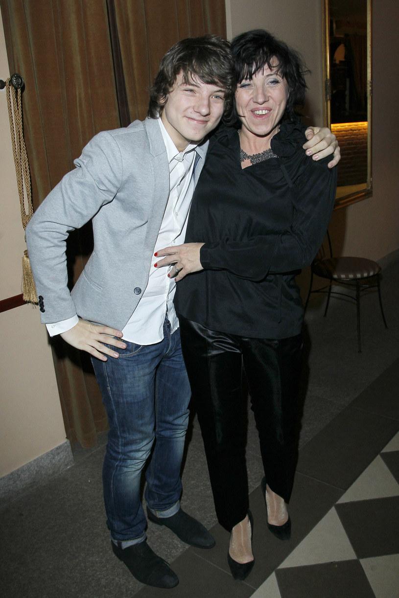 Hanna Śleszyńska z synem Jakubem /Engelbrecht /AKPA