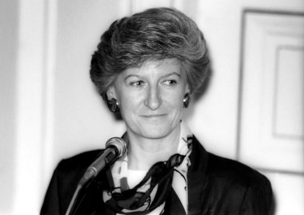 Warszawa, 09.07.1992, Hanna Suchocka desygnowana na stanowisko premiera - pierwsza konferencja prasowa