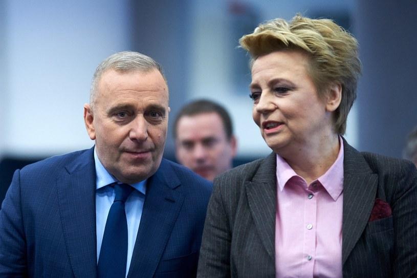 Hanna Zdanowska i Grzegorz Schetyna /Lukasz Szelag /Reporter