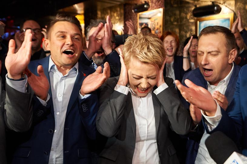 Hanna Zdanowska podczas wieczoru wyborczego /Łukasz Szeląg /Reporter