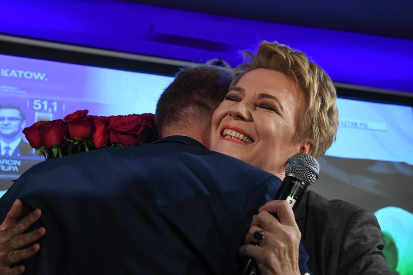 Hanna Zdanowska w wieczór wyborczy / fot.: Jan Sroda / Gazeta Polska / FORUM /FORUM