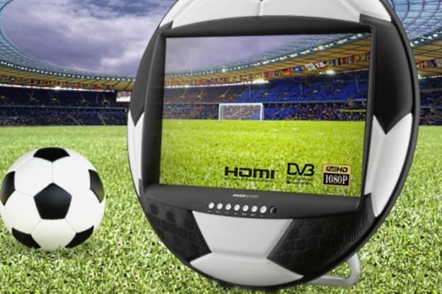 """HANNSsoccer 28"""" - kto chciałby kupić taki telewizor w kształcie piłki? /materiały prasowe"""