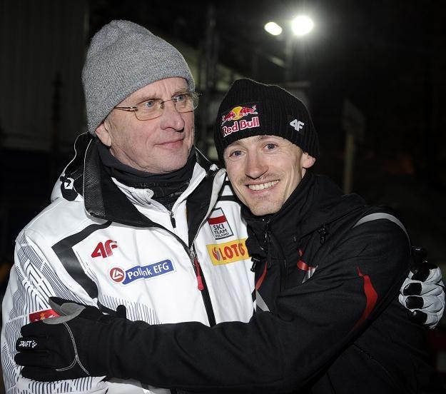 Hannu Lepistoe i Adam Małysz Fot. Grzegorz Momot /AFP