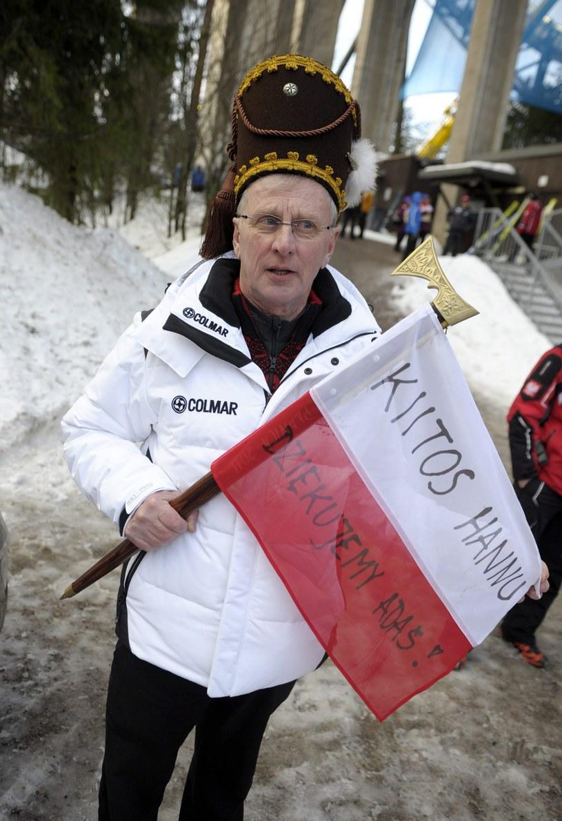 Hannu Lepistoe kibicuje Polakom. /AFP