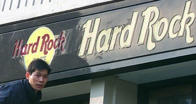 Hard Rock Cafe w chińskim Szanghaju /arch. AFP