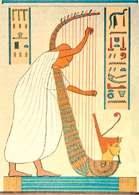 Harfiarz  Ramzesa III, malowidło ścienne w nekropolii w Tebach, 1166 r. p.n.e. /Encyklopedia Internautica