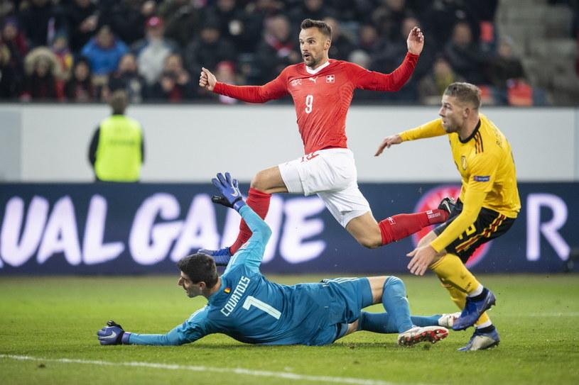 Haris Seferovic w meczu z Belgią /AFP