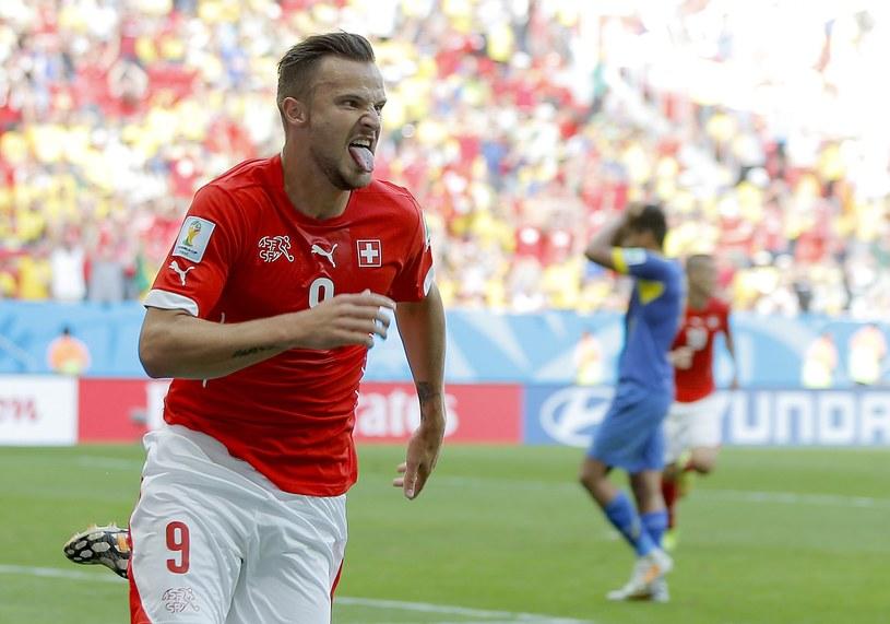 Haris Seferović zdobył zwycięskiego gola dla Szwajcarii /PAP/EPA