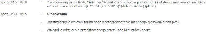Harmonogram prac Sejmu /