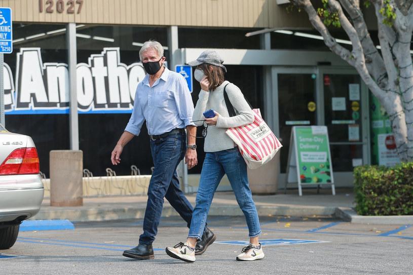Harrison Ford i Calista Flockhart na zakupach /BACKGRID /East News