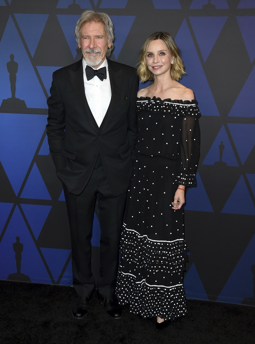 Harrison Ford i Calista Flockhart podczas rozdania Nagród Governors 2018 /Invision /East News