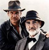"Harrison Ford i Sean Connery w filmie ""Indiana Jones i ostatnia krucjata"" /INTERIA.PL"