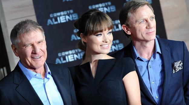 """Harrison Ford, Olivia Wilde i Daniel Craig na premierze filmu """"Kowbioje i obcy"""" /materiały promocyjne"""