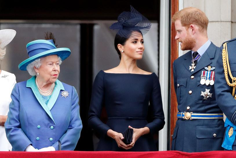 Harry jest już w Londynie. Jednak na uroczystości pogrzebowej księcia Filipa nie wystąpi w mundurze wojskowym. Co z innymi członkami męskiego rodu? Decyzja należy do królowej /Getty Images