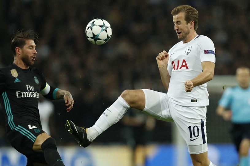 Harry Kane w meczu z Realem Madryt w Lidze Mistrzów /AFP