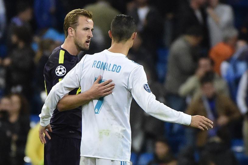 Harry Kane (z lewej) i Cristiano Ronaldo po wtorkowym meczu na Santiago Bernabeu /AFP