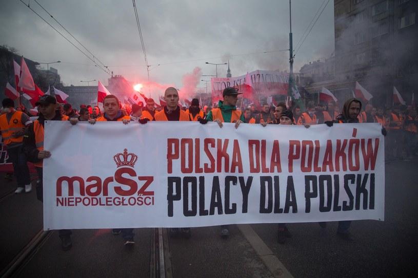 Hasło ubiegłorocznego marszu /Darek Redos /East News