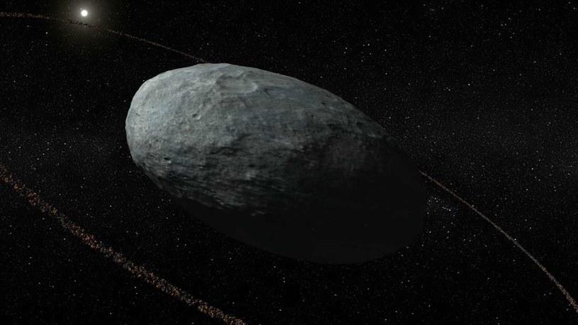 Haumea to pierwsza nam znana planeta karłowata z pierścieniem /materiały prasowe