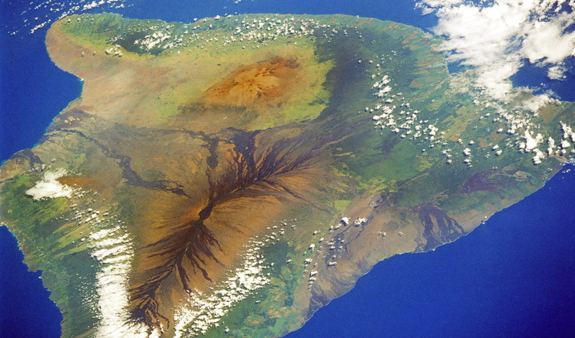 Hawaiʻi (Big Island) – największa wyspa archipelagu Hawajów /NASA