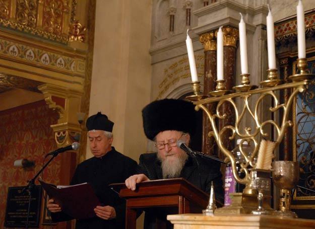 Hawdala - nabożeństwo na zakończenie szabatu fot. M. Lasyk /East News
